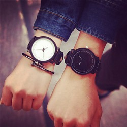 2017 Fashion Simple Couple & #039;S Watches Student Men Or Women Watch (Assorted Color)