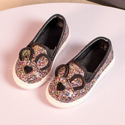 Childrens & #039; Shoes Outdoor/Casual Moccasin/Comfort Polyester Loafers Black/Pink/Gold