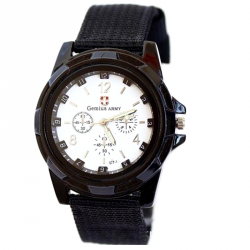 Men's Fashion Gemius Army Racing Force Military Sport Officer Fabric Band Watch