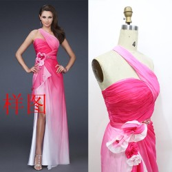 2015 summer new shoulder beaded by hand caught off married bride toast clothing long section of elegant evening dress