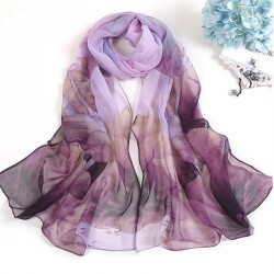 Women's Floral Long Soft Scarves Brief Beach Shawl Scarves