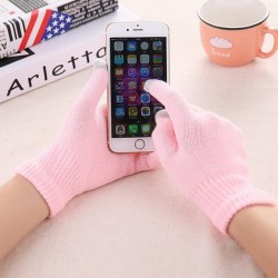 Women's Knit Winter Warm Gloves Smart Phone Touch Screen Full Finger Gloves