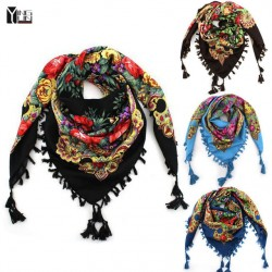 2017 New Fashion Ladies Big Square Scarf Printed Women Brand Wraps Popular-Sale Winter Ladies Scarves Cotton India Floural Headband
