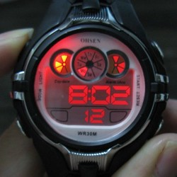 Digital Waterproof Boy Girl Lady Alarm Stop Led Sport Fashion Silicone Watch
