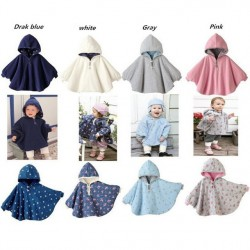 2017 Fleece Combi Baby Coat Babe Cloak Two-Sided Outwear Floral Baby Poncho Cape Infant Baby Coat Children & #39;S Clothing