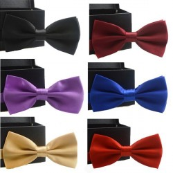 2017 New Popular Solid Bow Tie Mens Butterfly Cravat Bowtie Male Solid Color Marriage Bow Ties For Men