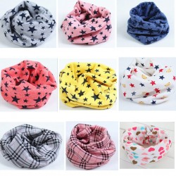 1Pc 100% Cotton 40*40 cm Warm Baby Scarf Kids Child Collar Boys Girls Kids O Ring Scarf Children Neck Scarves Retail/Wholesale