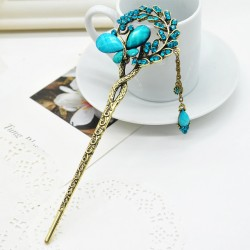 1 Piece New Fashion Butterfly Jewelry Multicolor Rhinestone Hair Clips Hairpin For Girls Women Zss0162
