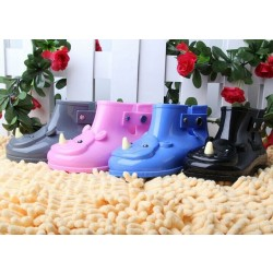 2017 New Children & #39;S Rain Boots Children Boots Cute Candy Colored Non-Slip Bottom Cylinder Boots Boys & Amp;Girl Rain Boots