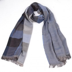 Free Ship 2017 Tartan Scarves Men Winter New Brand Fashion Plaid Scarf For Men Fashionable Design Cozy Warm Long Scarf Cotton Brown Tassel