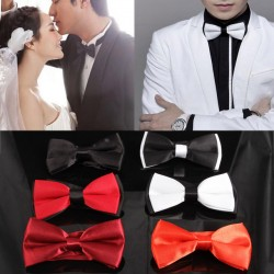 Fashion New Mens Tie Adjustable Plain Bow Tie Pre Tied Wedding Bow Tie For Evening Party 6 Colors Drop Shipping Tie-018