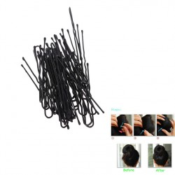 50Pcs Fashion Thin U Shape Hair Clips Pins Black Metal Bobby Hair Pin Styling Tools Hairpin Wedding Accessories Jewelry Popular Sale
