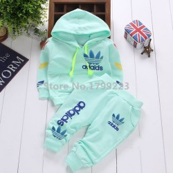 2017 Brand Autumn Baby Boy Girl Clothes Long Sleeve Top+ Pants 2Pcs Sport Suit Carters Baby Clothing Set New Born Infant Clothing