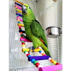 2017 New Arrival Bird Parrot Colorful Climbing Ladder Toy Parrot Swing Toys Parrot Supplies Ptsp