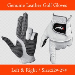Free Shipping Genuine Leather Golf Gloves Men & #39;S Left Right Hand Soft Breathable Pure Sheepskin Golf Gloves Golf Accessories