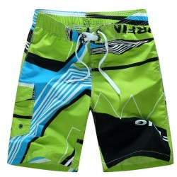 Fashion Quick Dry Men Shorts Brand Summer Casual Clothing Geometric Swimwears Beach Shorts Men & #39;S Surf Board Shorts