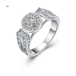 Commodity discount discounts fashion ring silver ornaments European market and the US market style personalized ring hollow diamond