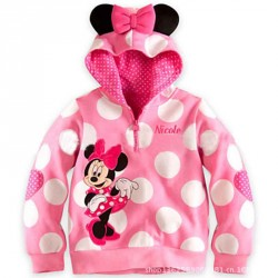 Fast shipping low price hot sales Girls Minnie design low price girls dot bow section casual jacket discount