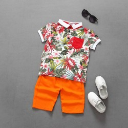 Boys short-sleeved shirt leisure suit suit pocket money fast shipping promotion