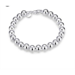 Discount 925 silver bracelet fashion jewelry beads 8MM Ms. gift ideas for quick sale