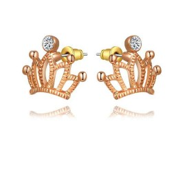 Discount jewelry earrings selling models of high-quality products in Europe and the US market style earrings Crystal gilt crown drill