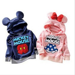 Promotional low price luxury mushroom pattern cotton autumn and winter clothing David hooded warm coat, boys and girls