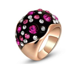 Europe and the United States market selling jewelry discount jewelry quality products market in Europe and America red, white and rose gold crystal diamond ring