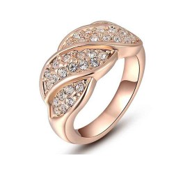 Discount jewelry selling jewelry in Europe and the US market four crystal rose gold ring high-end jewelry