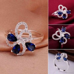 Discount gemstone rings silver ornaments high zircon ring discounted new style hot sales lady love