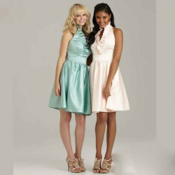 Elegant and beautiful upscale European market and the US market style short style bridesmaid dress low price discount bridesmaid dresses