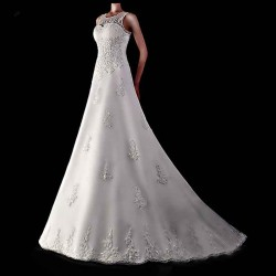 Bride wedding shoulders on both sides of the low price of high-end fashion lace wedding custom wedding discounts