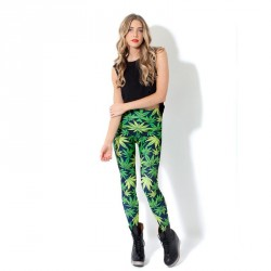 All matches of the European market and the US market, British-style graffiti outer wear leggings hot selling fashion style long elastic leggings