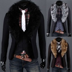Low price member price discount hair collar detachable woolen suit suit suit casual suit