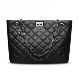 Discount new leather ladies bag big bag lady leather diamond chain bag hand bag fast delivery