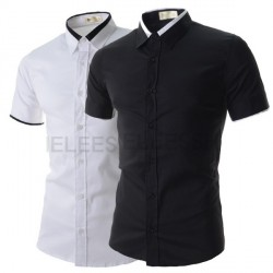 Low price discounts in black and white and colorful men's models simple casual shirts