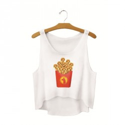 Europe and the United States market sales fries hot dog fashion harness vest fashion pattern T-shirt digital printing