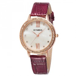 Popular trend ladies watch with diamond watch waterproof leather belt quartz material quick sale discount fashion watch