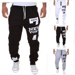 Casual pants digital printing letters printed pants