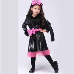 The European market, the US market hot sales Girls and New Years Day performance clothing cosplay cat lady skirt dress childrens dance clothing