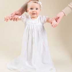 European market and the US market in infants under the age of modern small single full moon ceremony Jinian Li Tong Kids lace dress long style