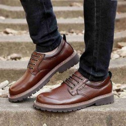 Fast shipping men's shoes in winter new style leather men's shoes first layer of leather shoes fashion shoes tooling materials