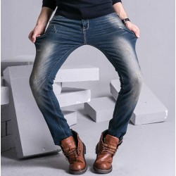 Autumn new style mens blue pencil jeans Slim pencil pants trousers tide