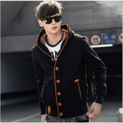 Fall Winter new style men's sweater men's warm Slim hooded cardigan sweater popular men's sweater coat
