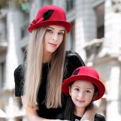 Popular autumn and winter childrens mother Ms. Ms. wool hat parent-child cap cute material