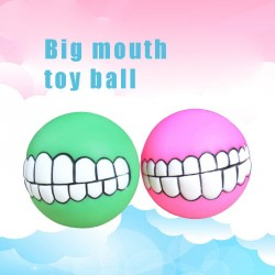 Pet Toys Promotions quick sale discount super thick sound teeth bite resistant ball dog training