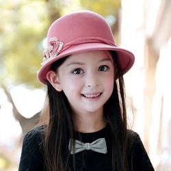 Autumn and winter popular new models sweet little children hat 100% wool hat warm materials basin-type hat for children