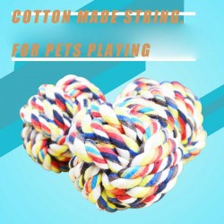 Pet supplies pet toy ball braided rope ball rope ball pet-resistant bite molars diameter 6CM