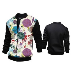 Low price hot new models printing Slim casual men's jacket