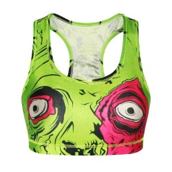 New fashion style pattern of terror running sports underwear Ms. no rims yoga sleep vest style bra text