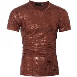 Low price selling exclusive bronzing new starting price men's super-low short-sleeved t-shirt Slim